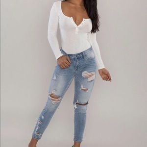💕Distressed jeans with stretch